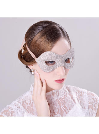 """Masks Special Occasion/Party Rhinestone/Alloy 9.06""""(Approx.23cm) 3.94""""(Approx.10cm) Headpieces"""