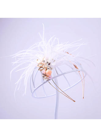 "Tiaras Wedding/Special Occasion/Party Alloy/Feather 5.91""(Approx.15cm) 5.91""(Approx.15cm) Headpieces"