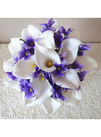 "Bridal Bouquets Hand-tied 8.66""(Approx.22cm) 9.84""(Approx.25cm) Color & Style representation may vary by monitor/Not responsible for typographical or pictorial errors. Wedding Flowers"