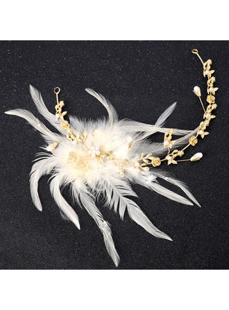 Ladies Beautiful Alloy/Feather Headbands (Sold in single piece)
