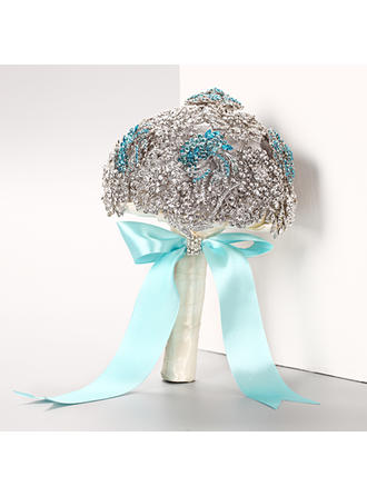 "Bridal Bouquets Round Wedding Rhinestone 10.24""(Approx.26cm) Wedding Flowers"