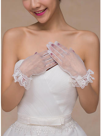 Lace Ladies' Gloves Bridal Gloves Fingertips 24.5cm(Approx.9.65inch) Gloves