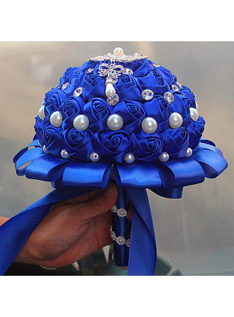 """Bridal Bouquets/Bridesmaid Bouquets/Flower Gifts Round Wedding/Party Satin 7.09""""(Approx.18cm) Wedding Flowers"""