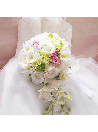 Bridal Bouquets Free-Form Wedding Satin Wedding Flowers (123189838)