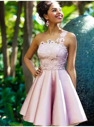 Stunning Homecoming Dresses A-Line/Princess Knee-Length One-Shoulder Sleeveless