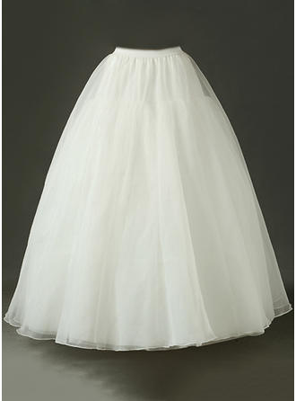 Petticoats Floor-length Tulle Netting Ball Gown Slip/Full Gown Slip Wedding/Daily Wear Petticoats