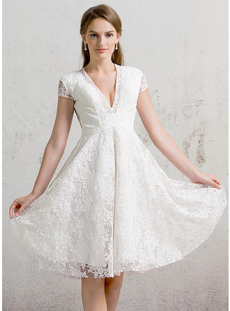 Lace A-Line/Princess With Magnificent General Plus Wedding Dresses