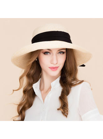 Rattan Straw Straw Hat/Beach/Sun Hats Fashion Ladies' 53-58 Hats
