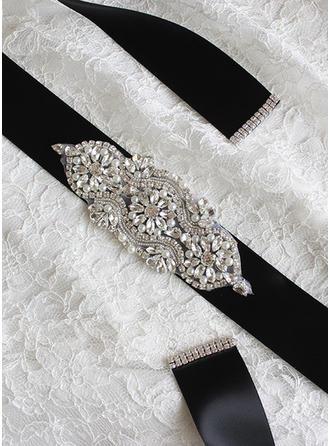 Women Ribbon With Rhinestones/Imitation Pearls Sash Beautiful Sashes & Belts