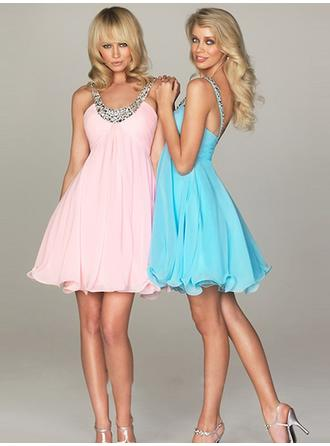 Scoop Neck Short/Mini Cocktail Dresses