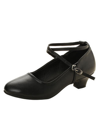 Women's Ballroom Swing Heels Leatherette With Buckle Dance Shoes (053180841)