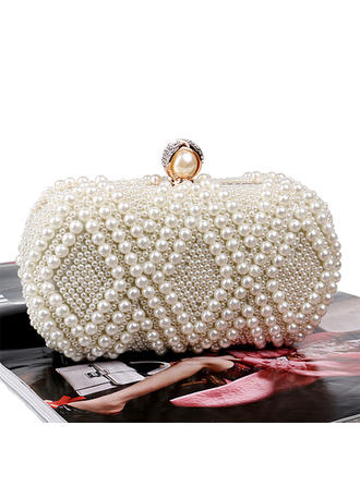 Clutches/Satchel Wedding/Ceremony & Party Beading Kiss lock closure Elegant Clutches & Evening Bags