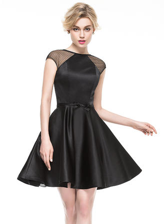 Fashion A-Line/Princess Scoop Neck General Satin Cocktail Dresses