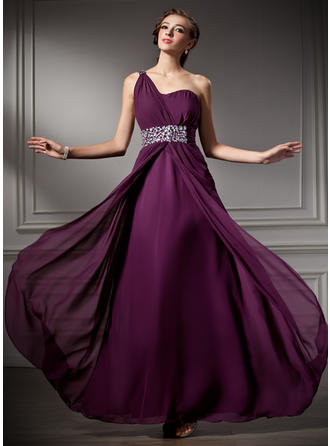 A-Line/Princess Prom Dresses 2019 New Floor-Length One-Shoulder Sleeveless