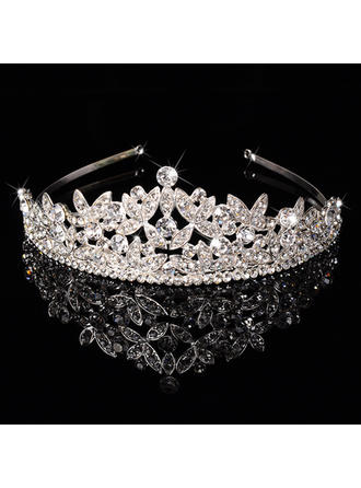 """Tiaras Wedding/Special Occasion/Party Rhinestone/Alloy 1.97""""(Approx.5cm) 6.3""""(Approx.16cm) Headpieces (042157342)"""