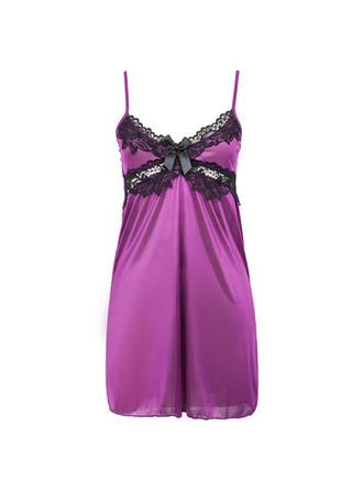 Vêtements de nuit Décontractée Féminine Lyrac/Spandex Simples et élégant Lingerie