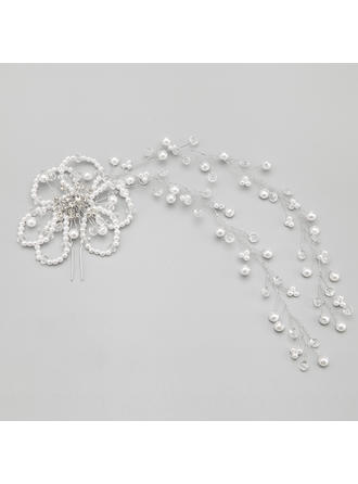 "Hairpins Wedding/Special Occasion/Party Alloy/Imitation Pearls 10.24""(Approx.26cm) 4.72""(Approx.12cm) Headpieces"