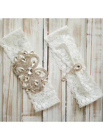 Garters Women/Bridal/Lady Wedding/Casual/Daily Wear Lace With Rhinestone Garter (104196381)