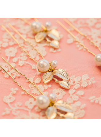 "Hairpins Wedding/Party Alloy/Imitation Pearls 1.57""(Approx.4cm) 3.94""(Approx.10cm) Headpieces"