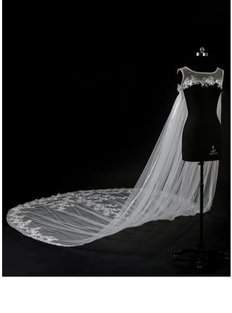 Wrap Wedding Lace Tulle Sleeveless With Appliques Lace Wraps