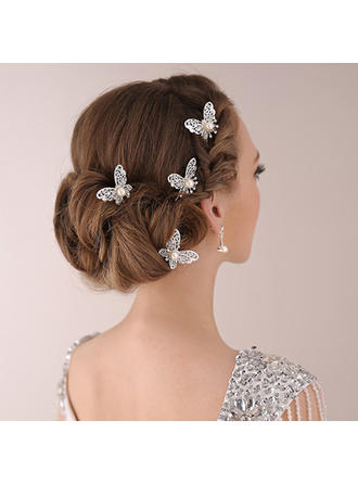 Hairpins Wedding/Special Occasion/Party Rhinestone/Alloy/Imitation Pearls Beautiful (Set of 2) Headpieces