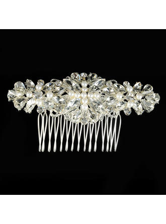 "Combs & Barrettes Wedding/Special Occasion Alloy/Imitation Pearls 3.94""(Approx.10cm) 1.97""(Approx.5cm) Headpieces"