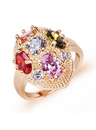 Rings Zircon/Platinum Plated Ladies' Attractive Wedding & Party Jewelry