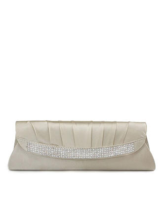 Clutches Ceremony & Party Silk Magnetic Closure Fashional Clutches & Evening Bags