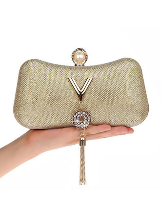 Clutches/Wristlets/Makeup Bags/Luxury Clutches Wedding/Ceremony & Party/Casual & Shopping/Office & Career PU Snap Closure Elegant Clutches & Evening Bags