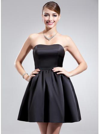 A-Line/Princess Sweetheart Short/Mini Bridesmaid Dresses With Ruffle