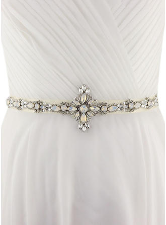 Women Satin With Crystal/Rhinestones Sash Unique Sashes & Belts