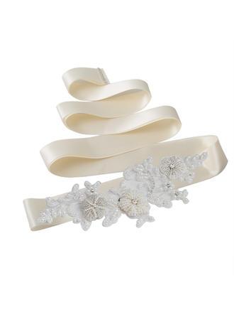 Elegant Satin Schleifenbänder/Stoffgürtel mit Strasssteine/Faux-Perlen