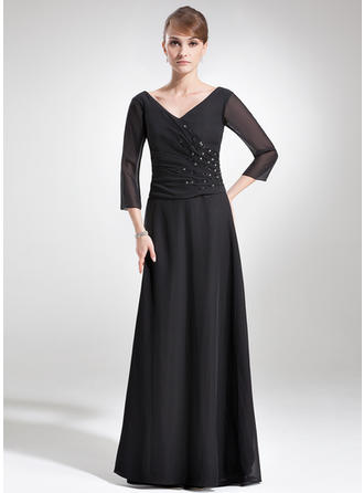 Flattering Chiffon V-neck A-Line/Princess Mother of the Bride Dresses