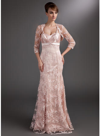 Luxurious Floor-Length Trumpet/Mermaid Lace Mother of the Bride Dresses