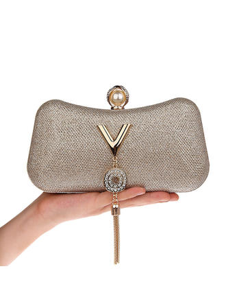 "Clutches PU Magnetic Closure Elegant 4.33""(Approx.11cm) Clutches & Evening Bags"