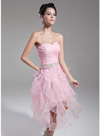 A-Line/Princess Princess Organza General Plus Cocktail Dresses