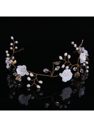 "Headbands Wedding/Party Alloy/Silk Flower 14.96""(Approx.38cm) 2.76""(Approx.7cm) Headpieces"