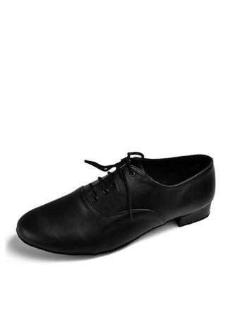 Men's Latin Ballroom Practice Heels Pumps Real Leather Dance Shoes