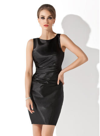 Sheath/Column Charmeuse Modern Scoop Neck Mother of the Bride Dresses