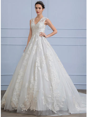 Beading Sequins Ball-Gown - Lace Wedding Dresses