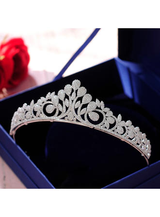 Ladies Beautiful Zircon Tiaras With Cubic Zirconia (Sold in single piece) (042142145)