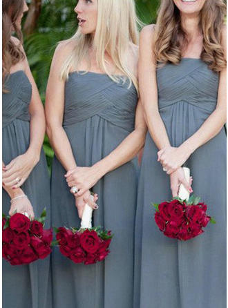 Bridesmaid Dresses Strapless A-Line/Princess Sleeveless Floor-Length