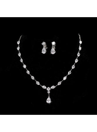 Elegant Alloy/Zircon With Cubic Zirconia Ladies' Jewelry Sets (011144895)
