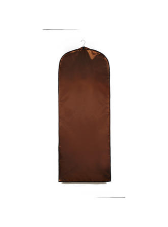 Garment Bags Dress Length Side Zip Faux Leather Chocolate Wedding Garment Bag (035192308)
