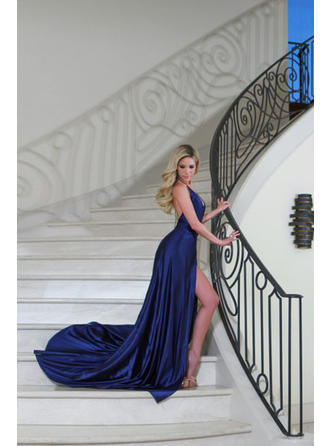 one shoulder evening dresses knee length