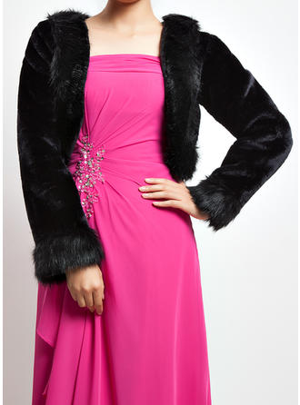 Wrap Special Occasion Faux Fur Long Sleeve Other Colors Wraps