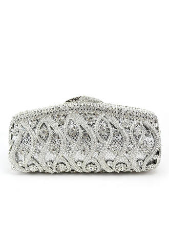 Clutches Wedding/Ceremony & Party Crystal/ Rhinestone/Alloy Clip Closure Pretty Clutches & Evening Bags