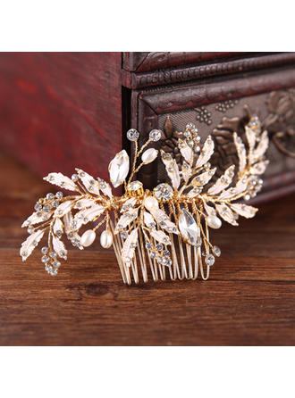 "Combs & Barrettes Wedding/Special Occasion/Party/Art photography Rhinestone/Alloy 4.33""(Approx.11cm) 2.76""(Approx.7cm) Headpieces"