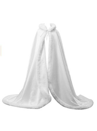 Wrap Wedding Faux Fur Sleeveless With Sashes / Ribbons Wraps