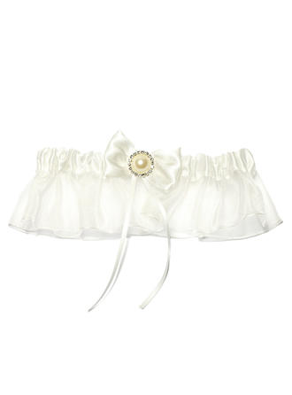 Garters Women Special Occasion Satin/Organza With Ribbons/Rhinestone/Beading Garter